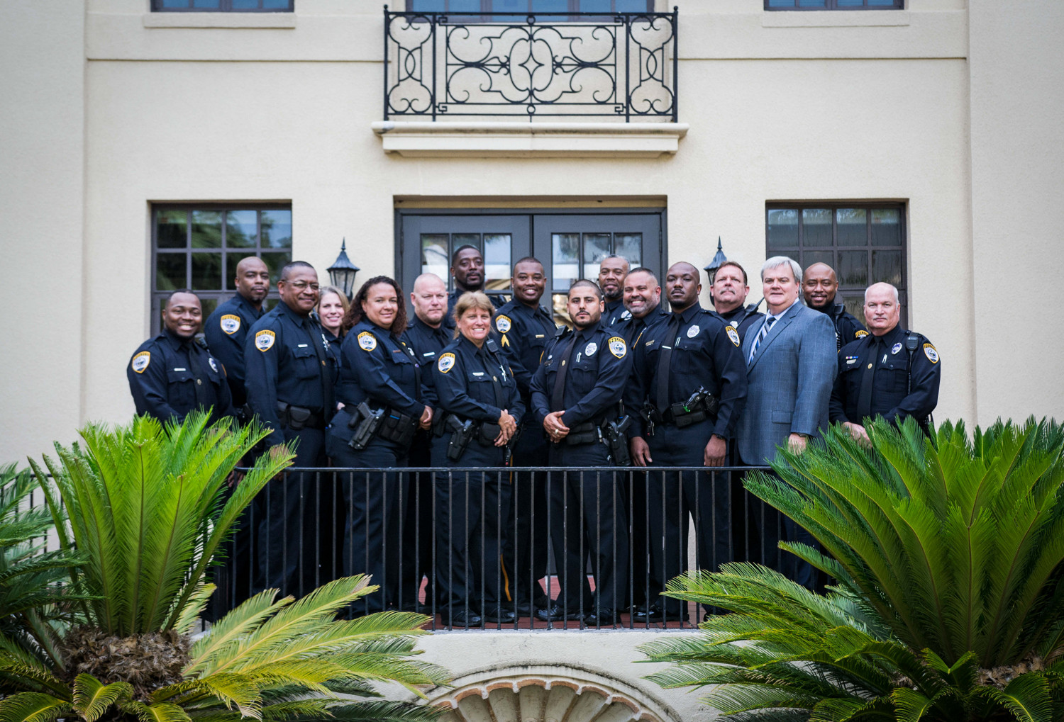 The entire GPD School Resource Officer Team posing for a group picture
